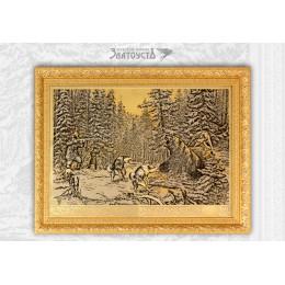 Панно «Охота на медведя»
