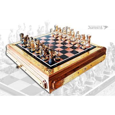 """Серебряные шахматы """"Римляне"""""""