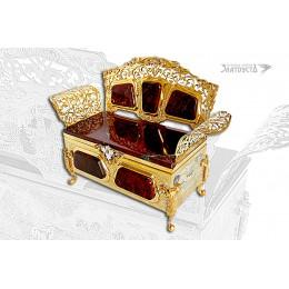 Шкатулка «Золотой диванчик»
