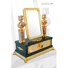 Зеркало-шкатулка-подсвечники